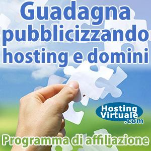Programma di affiliazione hosting