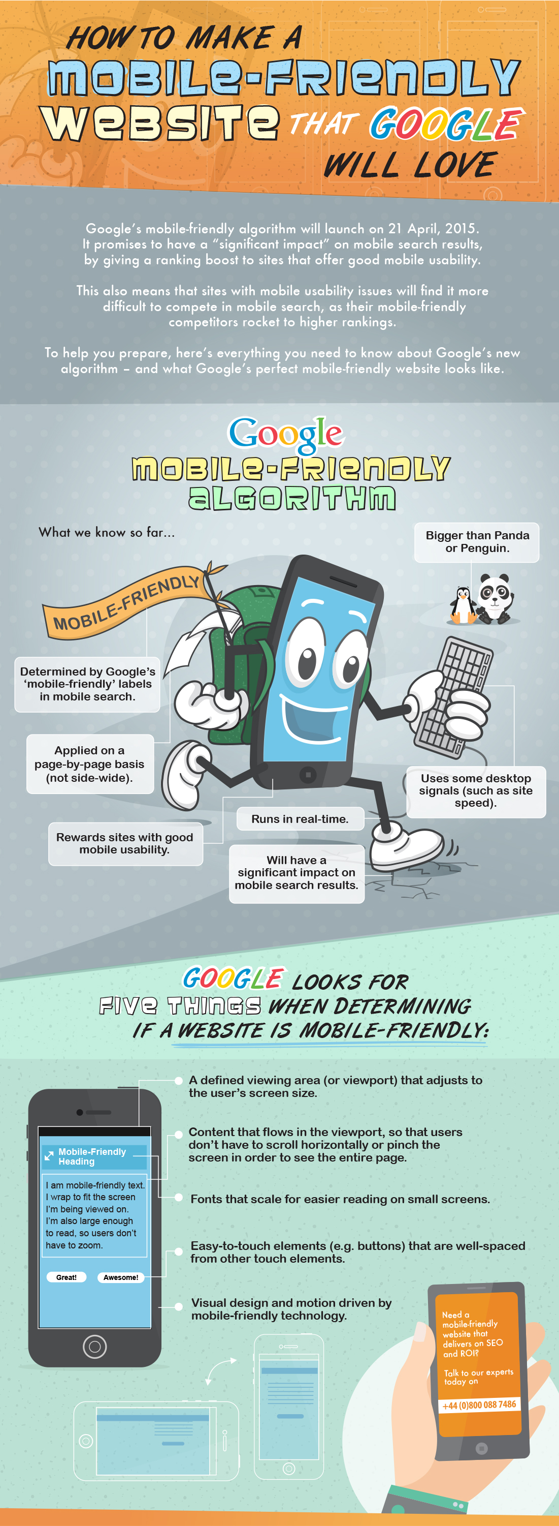 How to make a mobile-friendly web site that Google will love