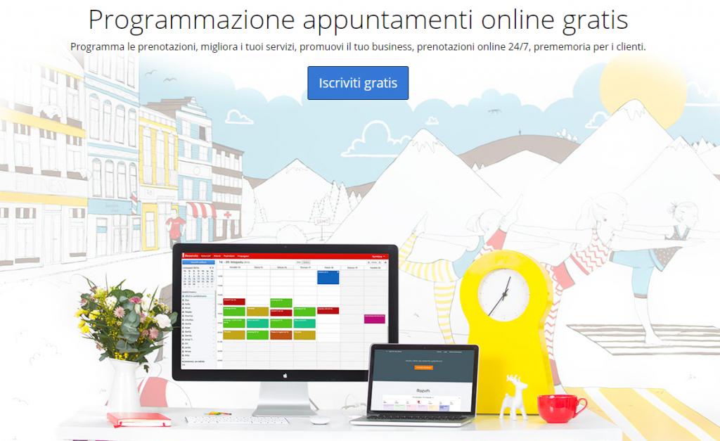 Software per appuntamenti gratis online Reservio