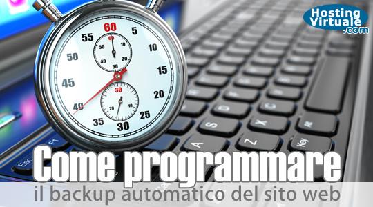 Come programmare il backup automatico del sito web