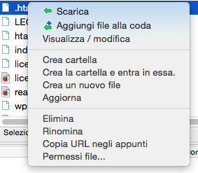Modificare i permessi dei file via ftp