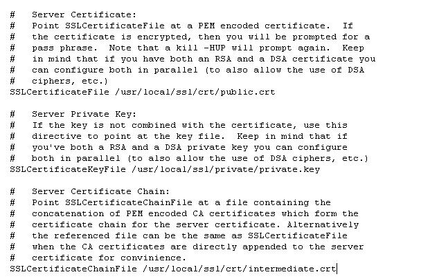 Certificato SSL: configurazione server Apache