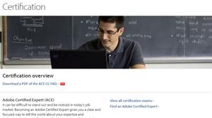 Certificazioni Adobe ACE e ACA