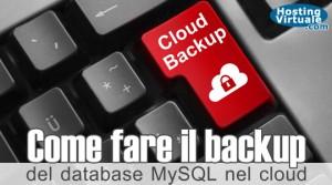 Come fare il backup del database MySQL nel cloud