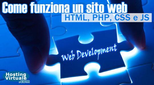 Come funziona un sito web: HTML, PHP, CSS e JS