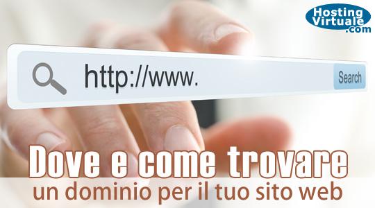 Dove e come trovare un dominio per il tuo sito web
