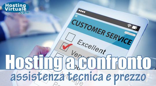 Hosting a confronto: assistenza tecnica e prezzo – Terza parte