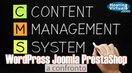 Wordpress, Joomla e PrestaShop a confronto