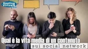 Qual è la vita media di un contenuto sui social network?