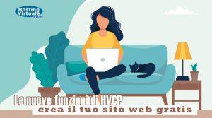 Le nuove funzioni di HVCP: crea il tuo sito web gratis