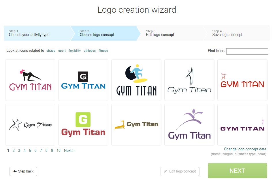 creare logo online con Logaster: esempi