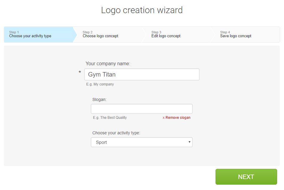 Creare logo online con Logaster