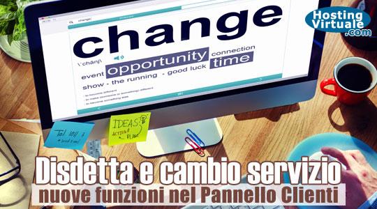 Disdetta e cambio servizio: nuove funzioni nel Pannello Clienti