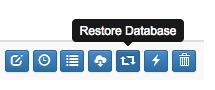 Dropmysite restore database