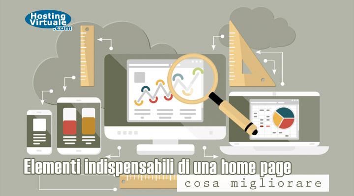Elementi indispensabili di una home page: cosa migliorare?