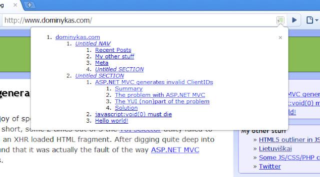 Estensione per analizzare la struttura del sito web
