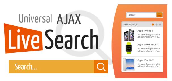 Estensioni Joomla Universal Ajax Live Search