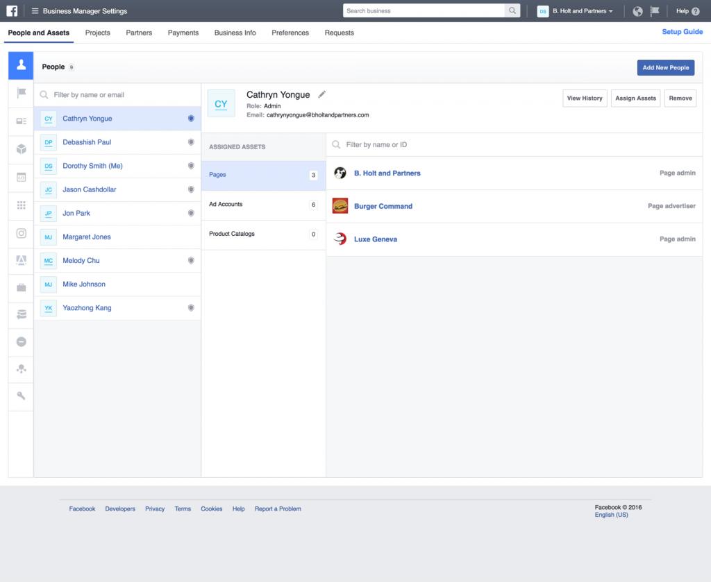 Facebook Business Manager: Impostazioni