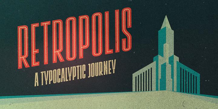 Font Vintage Lichtspiele Retropolis