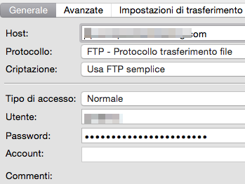 Come configurare FTP