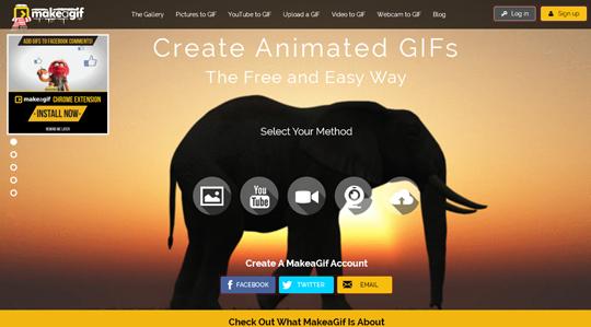 Creare una gif animata con makeagif.com
