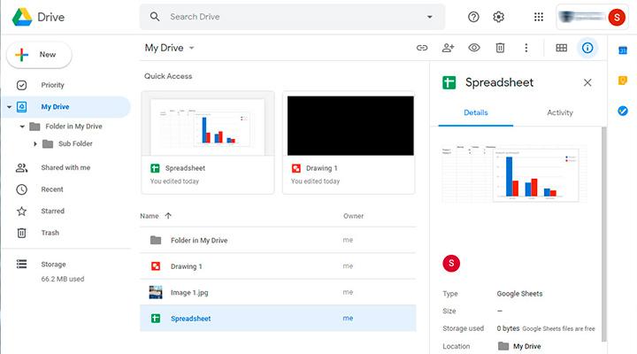 Google Drive: schermata principale My Drive