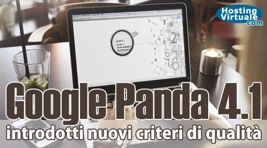 Google Panda 4.1: introdotti nuovi criteri di qualità