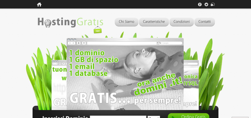Free hosting italiano