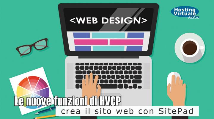Le nuove funzioni di HVCP: crea il sito web con SitePad