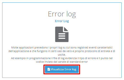 HVCP: Error Log