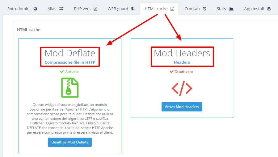 HVCP HTML Cache mod deflate