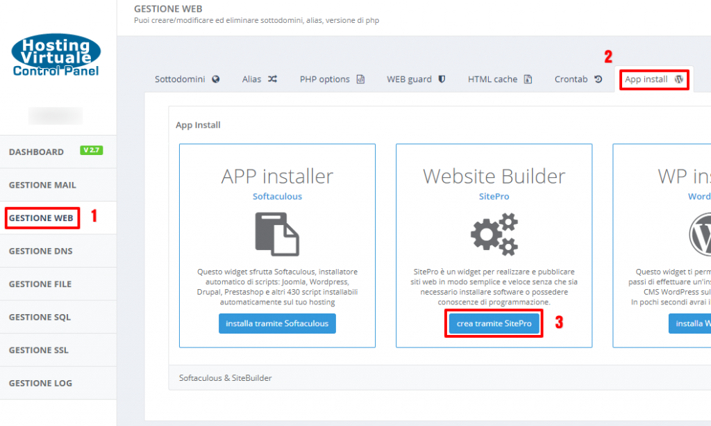 HVCP: Website Builder SitePro