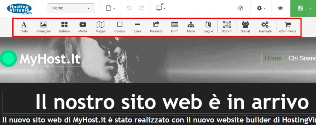 SitePro: Editor visuale