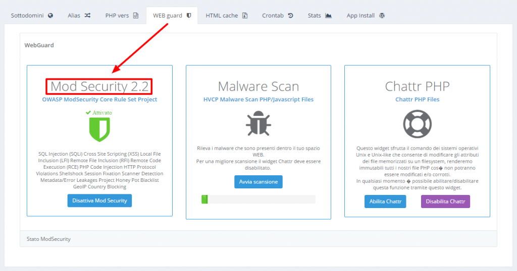 HVCP modsecurity web application firewall