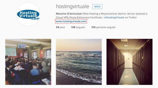 HostingVirtuale su Instagram