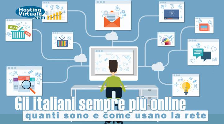 Gli italiani sempre più online: quanti sono e come usano la rete