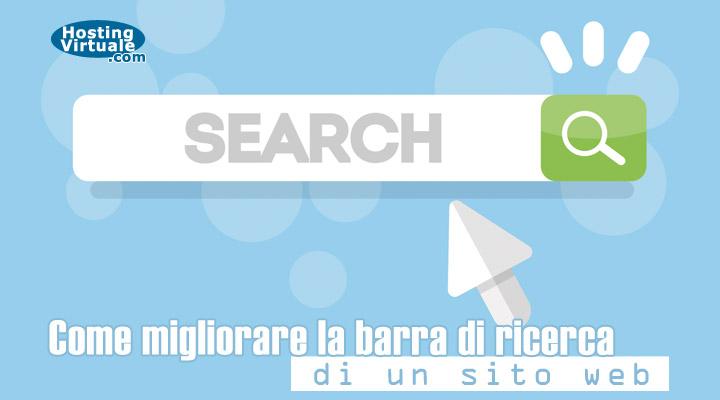 Come migliorare la barra di ricerca di un sito web