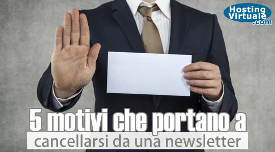 5 motivi che portano a cancellarsi da una newsletter