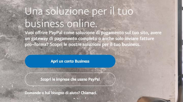 PayPal per aziende