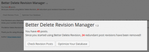 Plugin Better Delete Revision