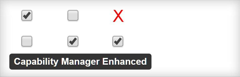 WordPress Capability Manager Enhanced
