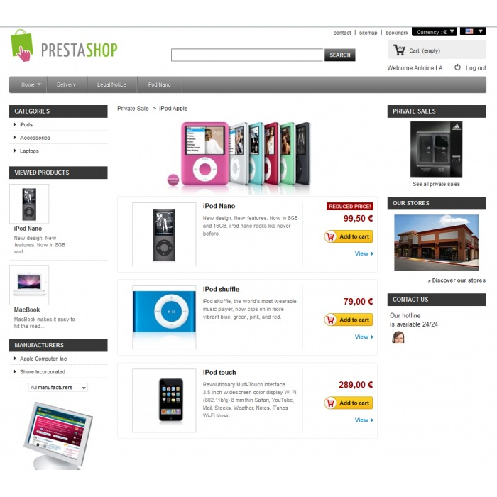 Private Sales PrestaShop