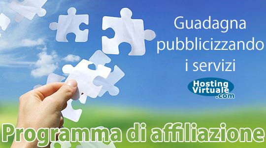 Programma di affiliazione hosting: guadagna pubblicizzando i servizi HostingVirtuale
