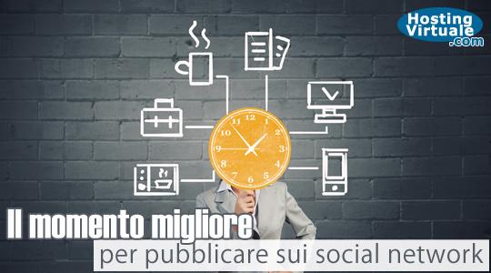 Il momento migliore per pubblicare sui social network