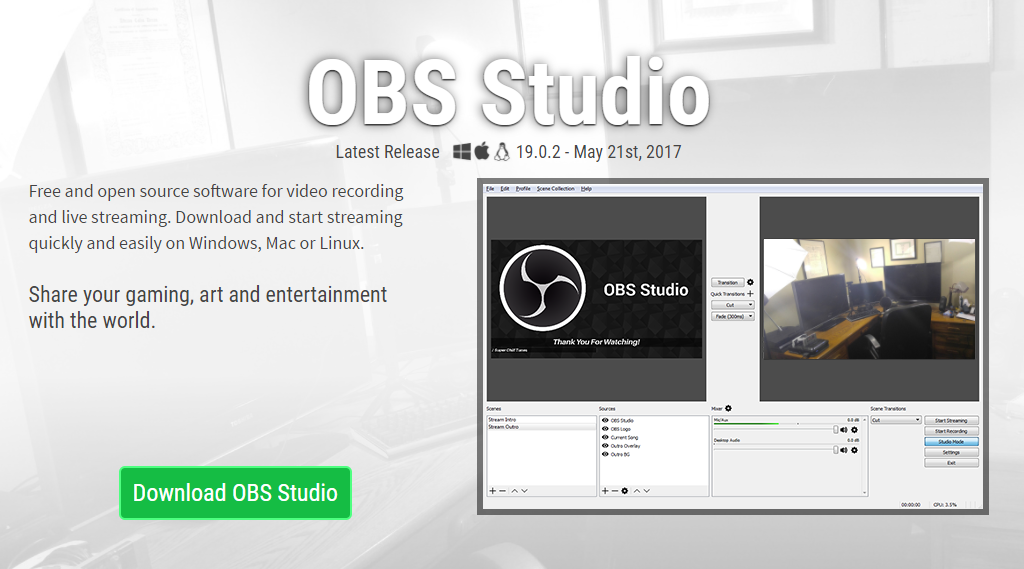 registrare video con Open Broadcaster Software
