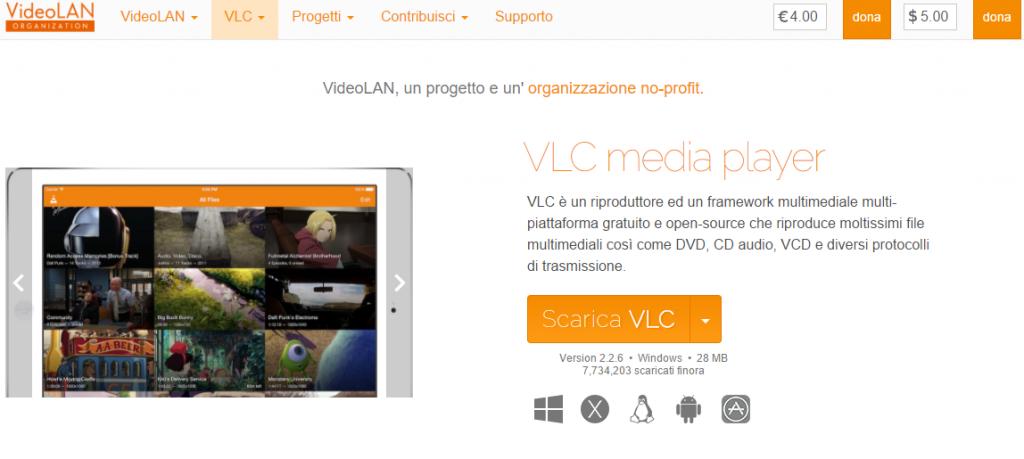 registrare video con VLC