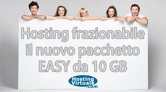Hosting frazionabile, la nuova offerta EASY da 10GB