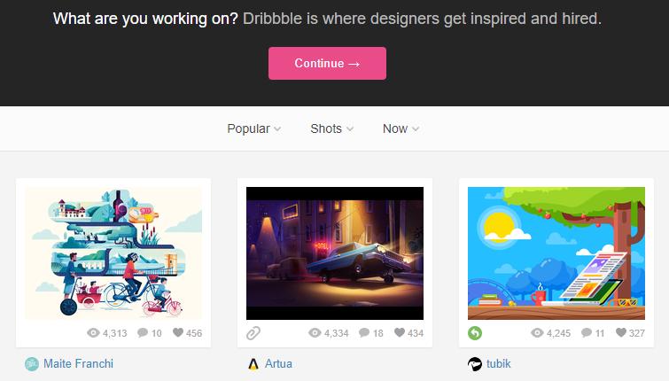 social network dedicato a grafici e web designer