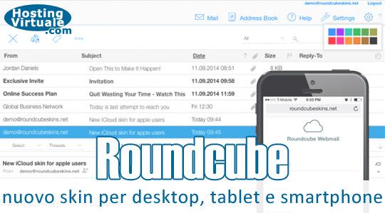 Roundcube: nuovo skin per desktop, tablet e smartphone