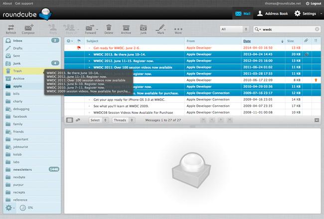 RoundCube nuova webmail